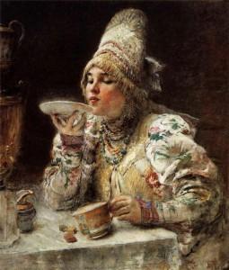 Как пили чай из блюдца