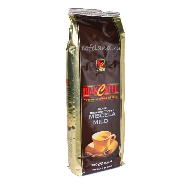 Кофе в зернах BianCaffe Mild 250 гр